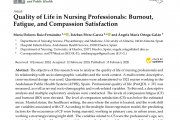 Quality of Life in Nursing Professionals: Burnout, Fatigue, and Compassion Satisfaction